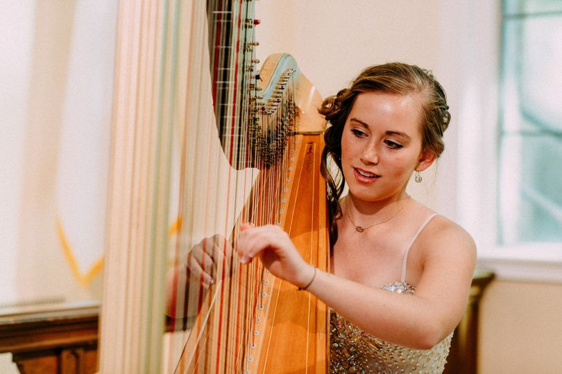 Lovely harpist