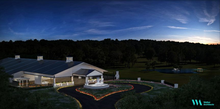 Overview of wedding venue