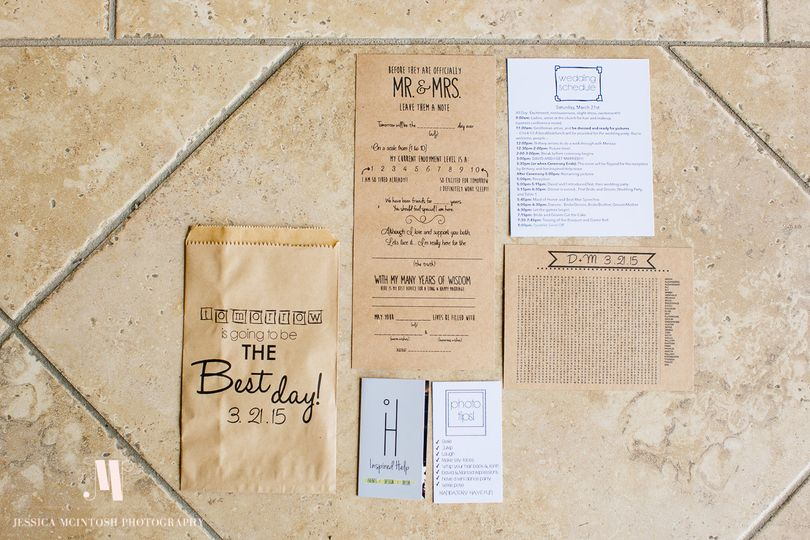 Wedding Party Packet Includes: Wedding Schedule, Word Search, Madlibs, & Photo tips.