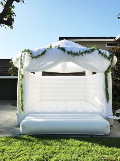 All white wedding bounce house