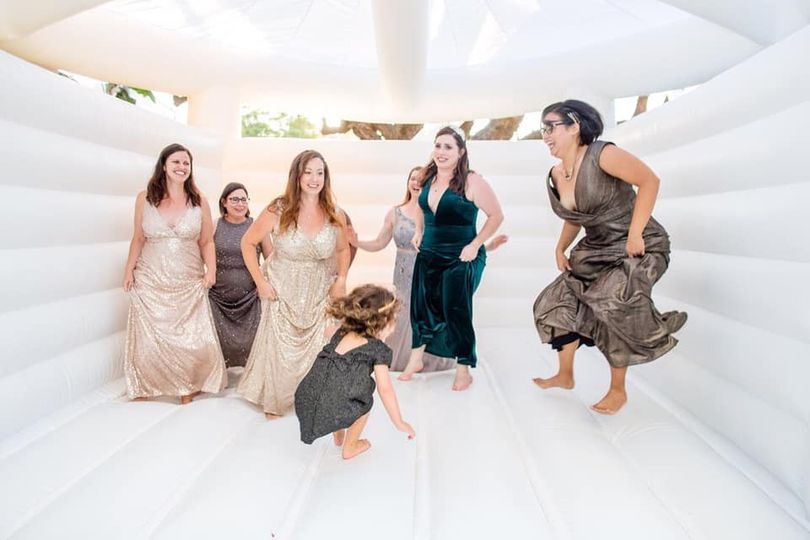 Bridal Party having a Blast
