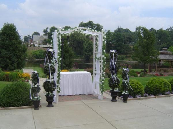 Alter/Arch Arrangements for outdoor or indoor ceremonies.