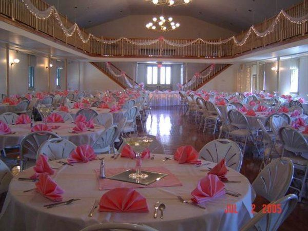 Let us help you decorate your special occasion with centerpieces, chair covers and more.