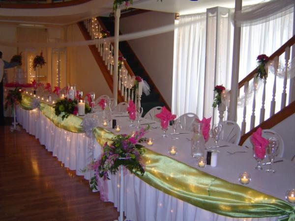 Our services also include decorating head tables.