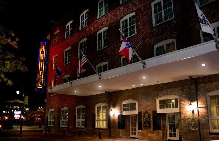 Hotel at Old Town at night