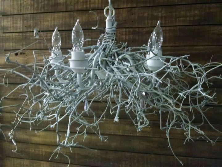 Twig chandelier.