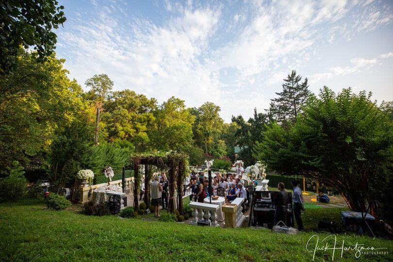 Wedding under a summer sky
