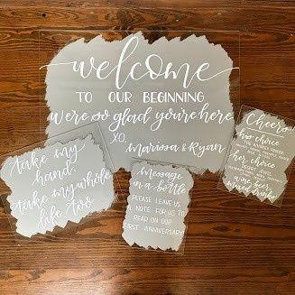 Custom decorative signs