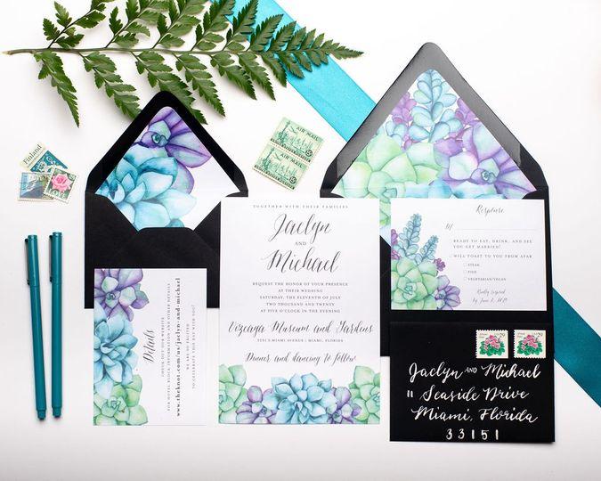Succulents Invitation Suite