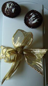 Gourmet chocolate truffle gift box.