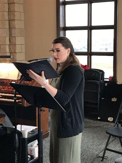 Cantoring at church 2018