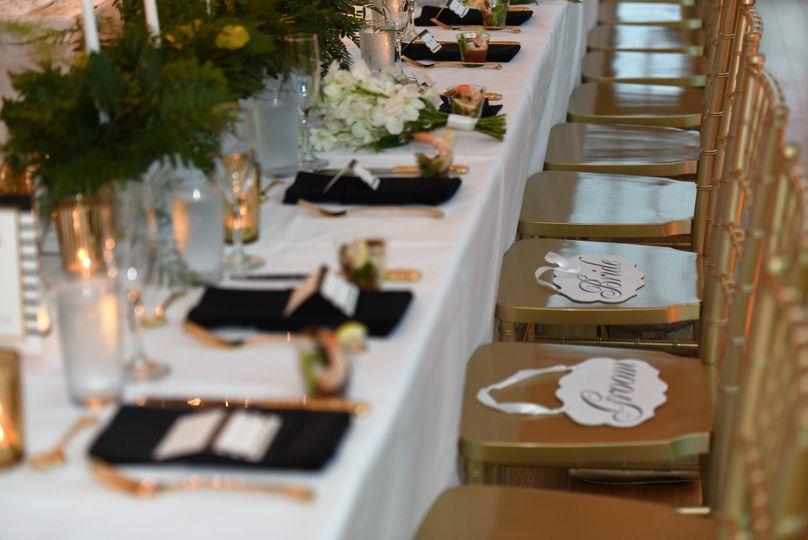 Banquet style set