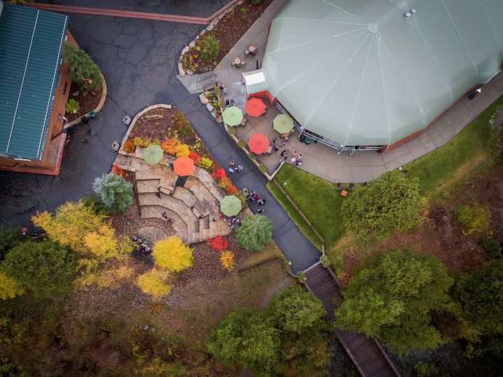 Aerial view of the venue