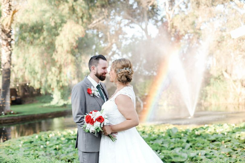 Couple and a rainbow