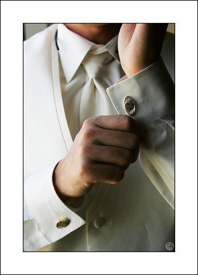 The classic cufflink shot.