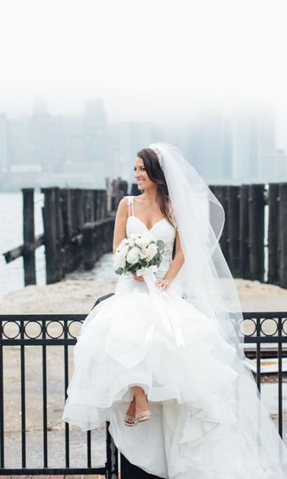 Bride by the ledge