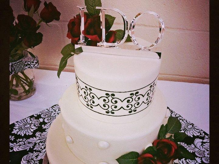 Tmx 1499988100903 Black N White Wedding Cake Bakersfield, CA wedding cake