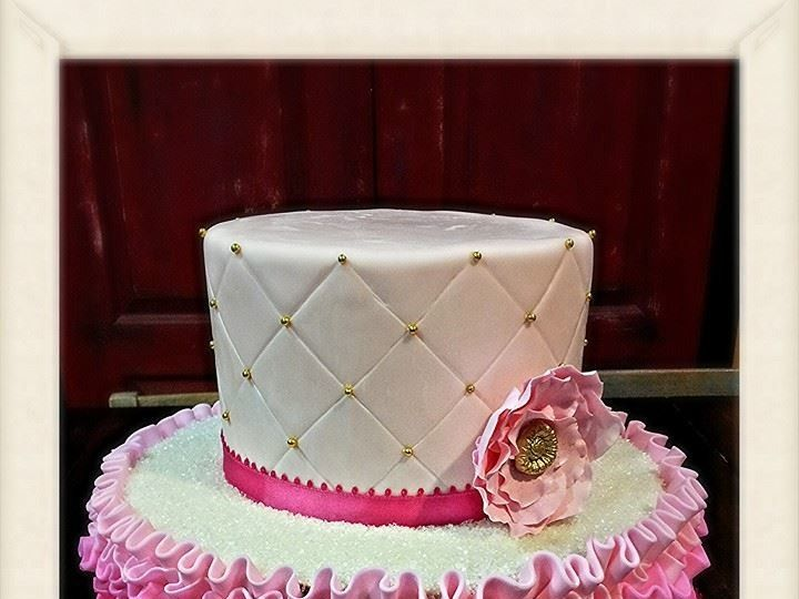 Tmx 1499988340505 Pink Ruffled Bakersfield, CA wedding cake