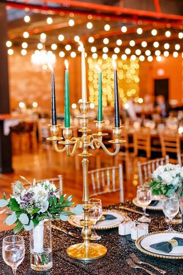 Black and gold wedding
