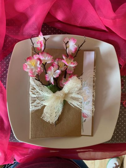 Floral Program table setting