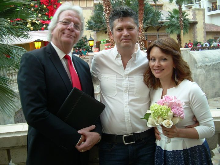 Can you guess where this wedding was held? Great loving couple. Just makes me smile.
