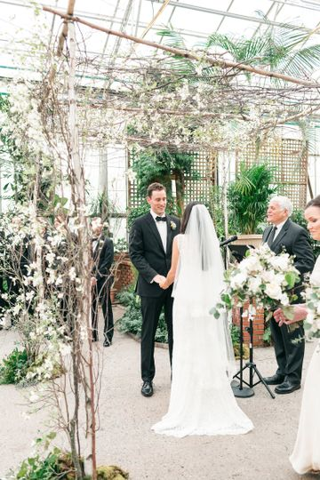 Wedding in a greenhouse