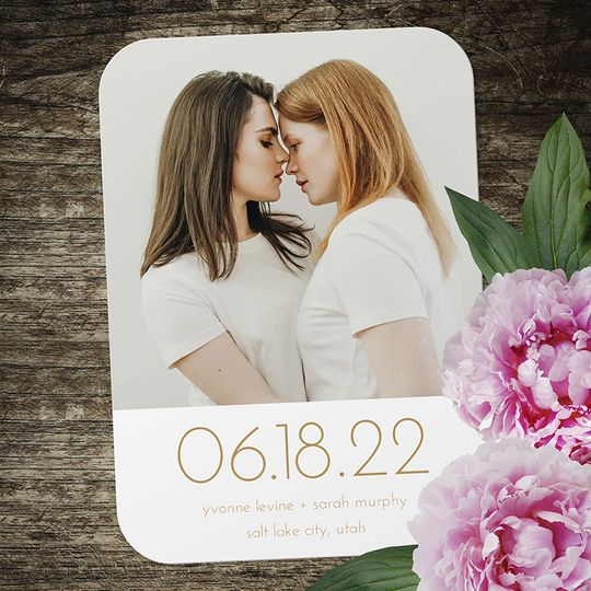 Yvonne and Sarah Save the Date