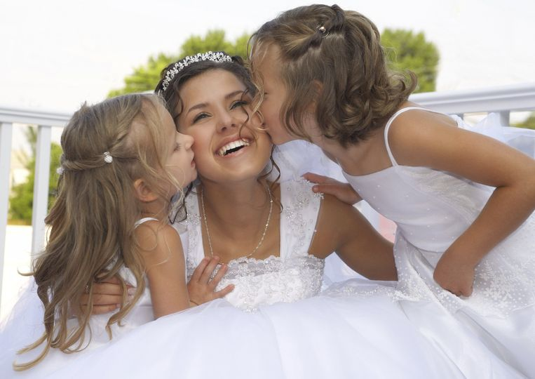 Bride and girls