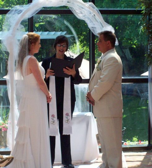 Andrea Purtell , New Jersey Wedding OfficiantCeremony at Doolan's Shore Club, Spring Lake Heights,...