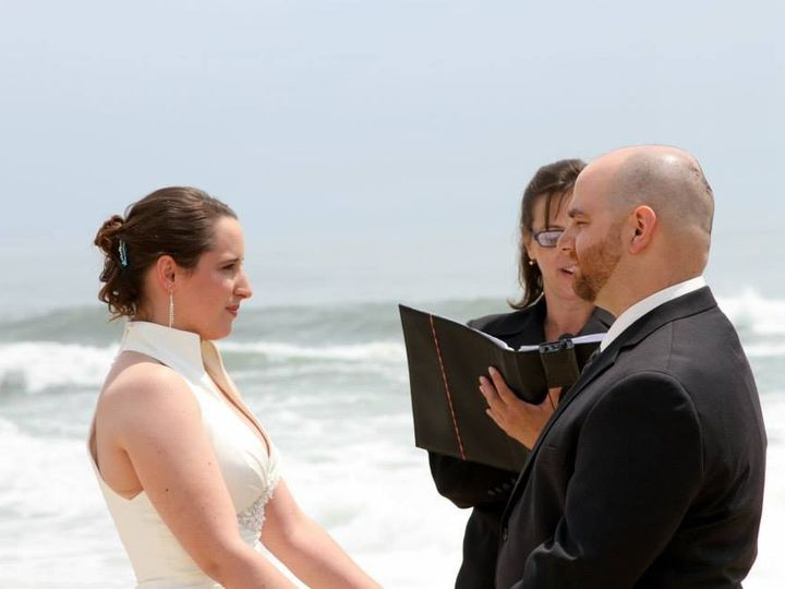 Tmx 1389751059476 Me Amber And Pete Beach Ceremony Spring Lak Point Pleasant Beach, NJ wedding officiant