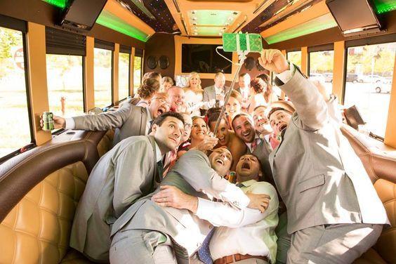 Fun in the limo bus