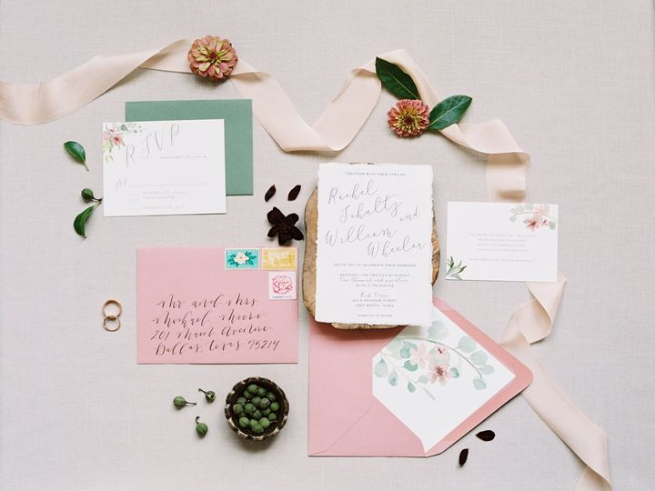 Tmx Pink Champagne Paper Query Events Stephanie Brazzle Jpg 51 685991 158524137544555 Grapevine, TX wedding invitation