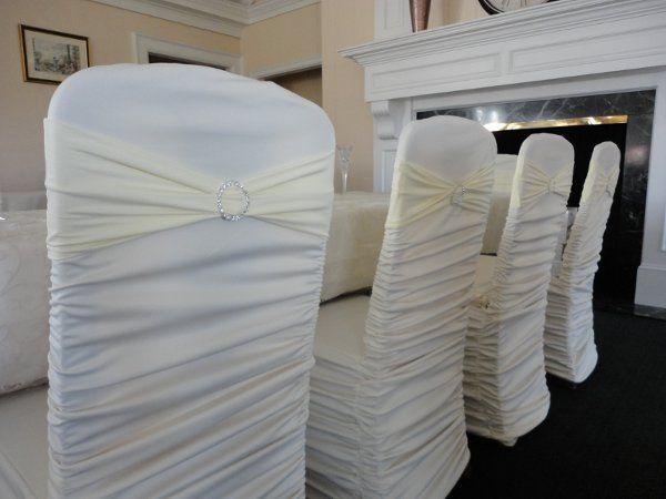 ivory rouge cover w/ ivory rhinestone bands