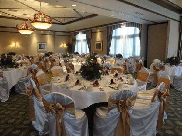 Tmx 1328221624834 Whitetiebackcoverwgoldsash004 North Tonawanda wedding rental