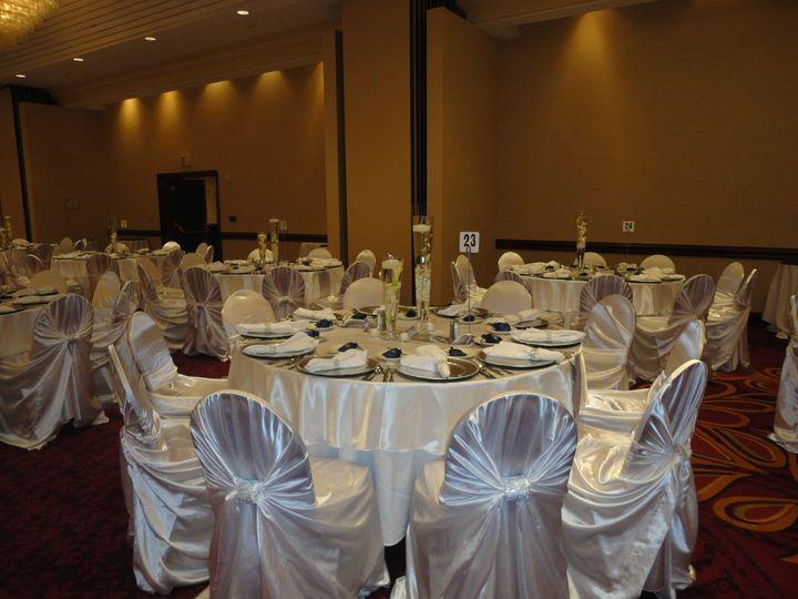 Tmx 1364243980697 Whitsatintiebackswithrhinestonewraps001 North Tonawanda wedding rental