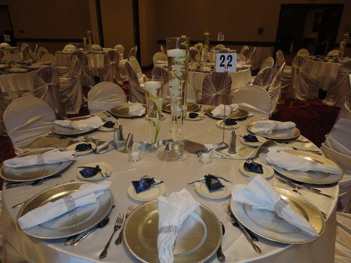 Tmx 1364244042319 Whitsatintiebackswithrhinestonewraps003 North Tonawanda wedding rental