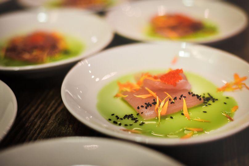 Tuna Sashimi with Herb Oil