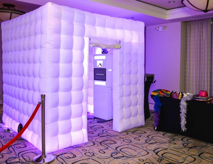 LED Party Booth-We have up to 17 different color combinations that can be done with this fun booth!