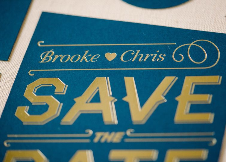 Foil save the dates