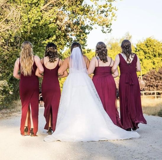 Hair on Bride & Bridesmaids