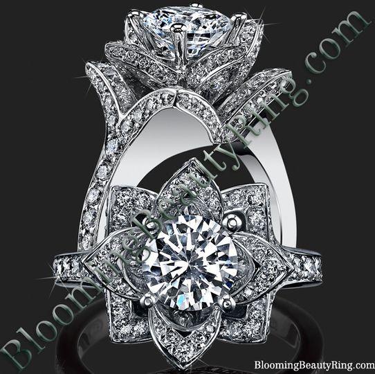 beautiful petra rose flower ring