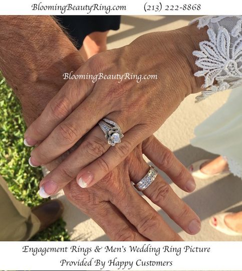 customers engagement rings and wedding rings