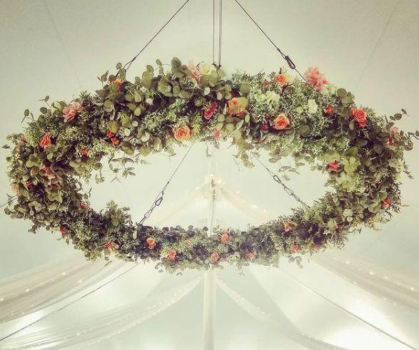 Tmx Peach Floral Hoop 51 420002 161832884724220 Easton, PA wedding eventproduction