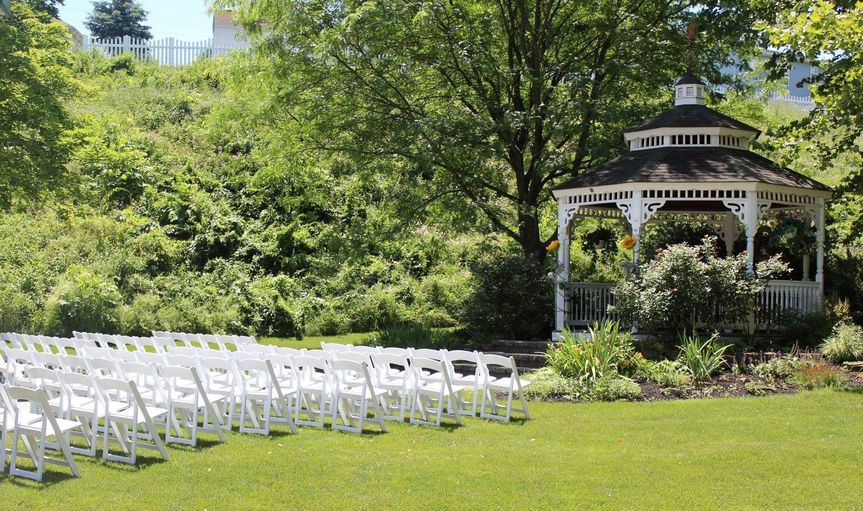 Our white padded chairs