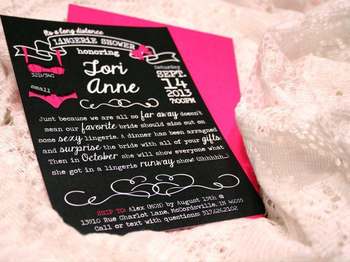 Tmx 1405542083870 Lingerie Bridal Shower Invite Fishers wedding invitation