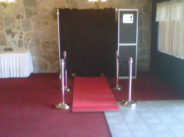 ShutterBooth with Red Carpet and velvet ropes
