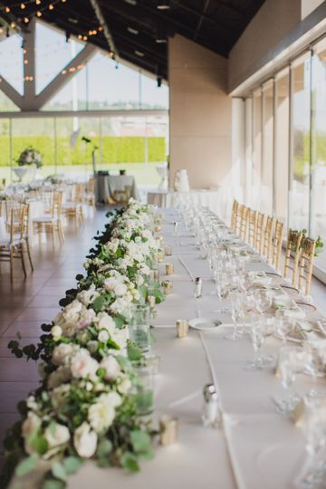 Head table at reception