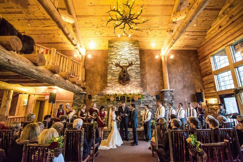 Whitefish wedding ceremony