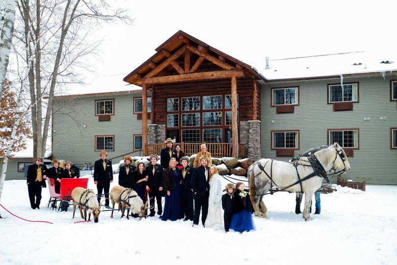 Whitefish winter wedding