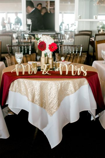 Simple sweetheart centerpiece